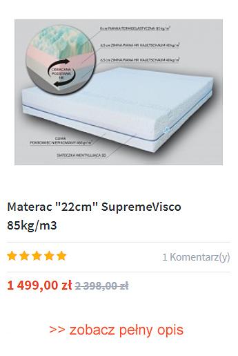 Materac piankowy Supreme 22